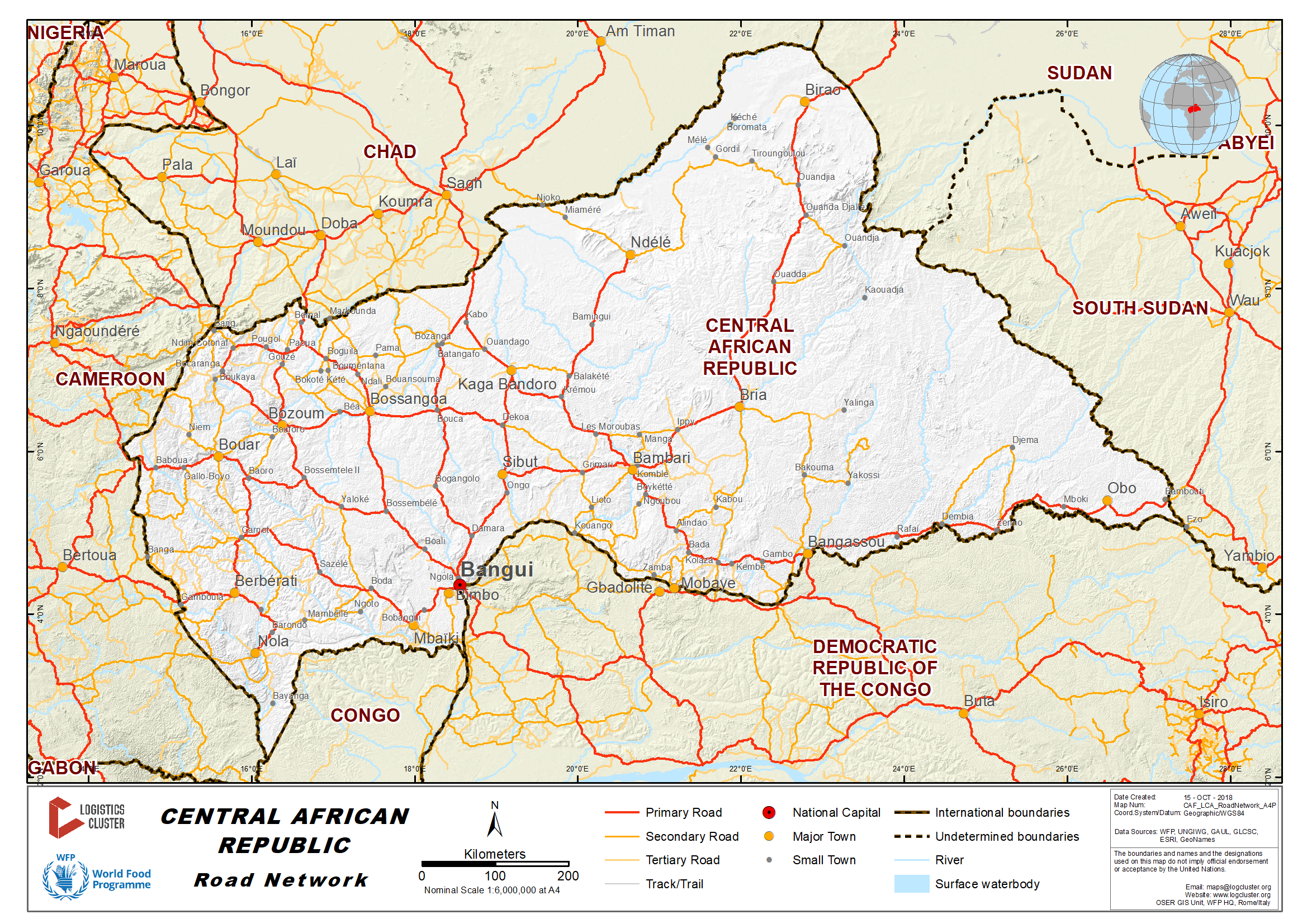 2.3 Central African Republic Road Network - Logistics Capacity ... on