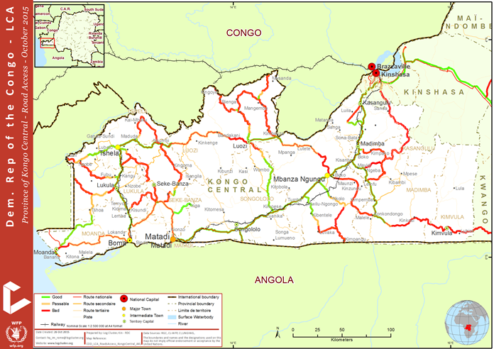 Democratic Republic Of Congo Road Network Logistics Capacity - Angola road map