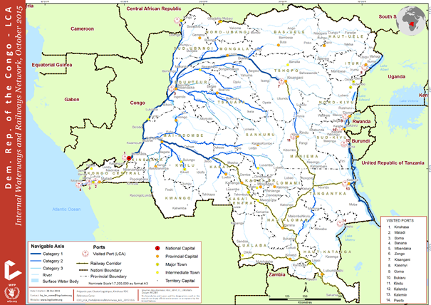 Democratic Republic of Congo Waterways