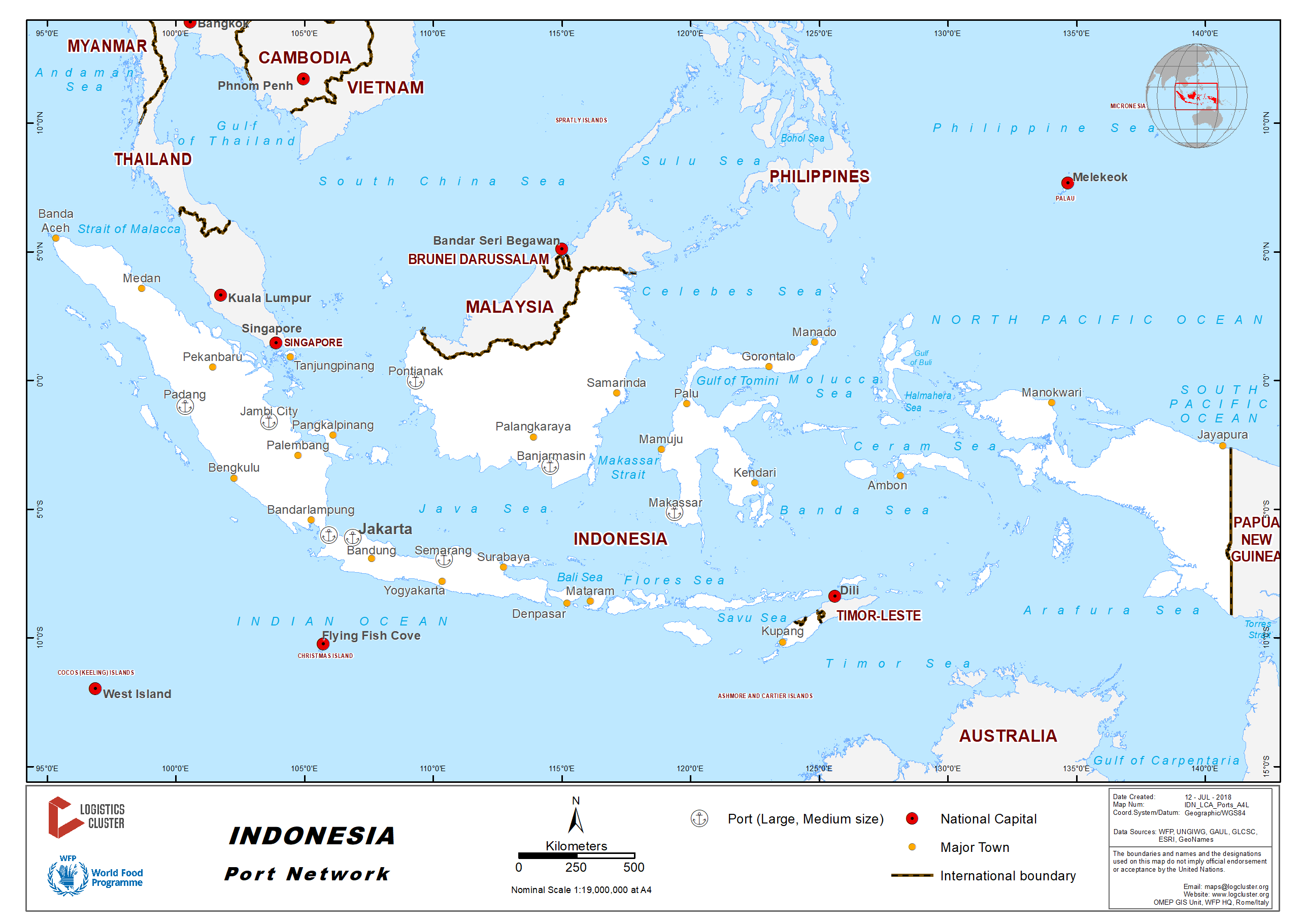 Indonesia Ports Map