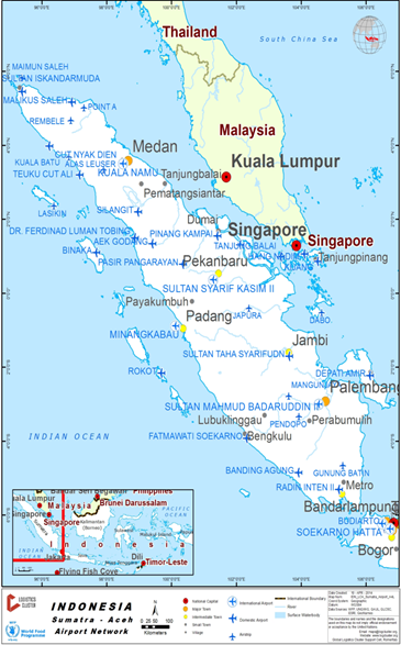 221 indonesia north sumatra kuala namu international airport kuala namu airport is located 39km east of medan and 46km south east of the port of belawan it is indonesias second largest sciox Image collections