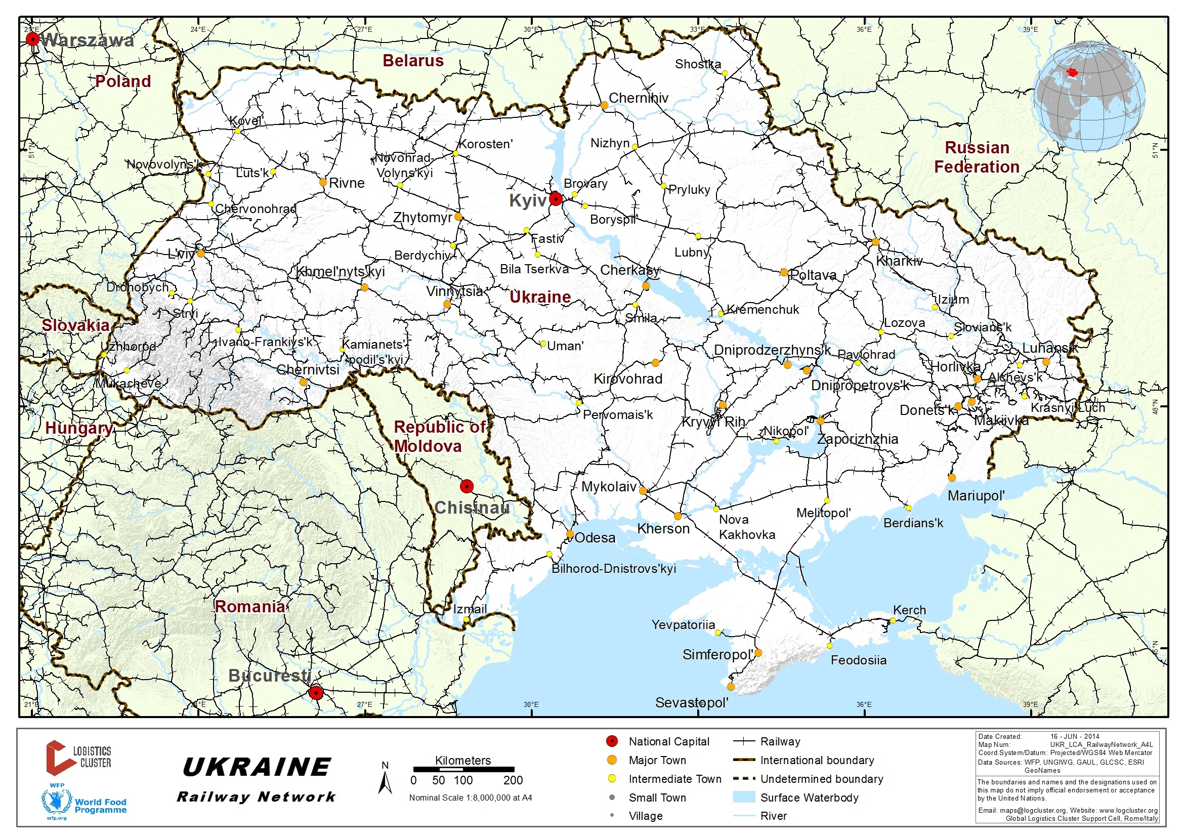 24 Ukraine Railway Assessment  Logistics Capacity Assessment