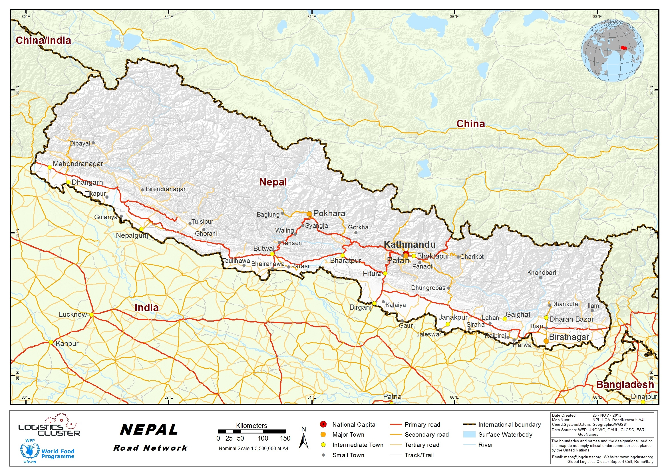 2.3 Nepal Road Network - Logistics Capacity Assessment ...