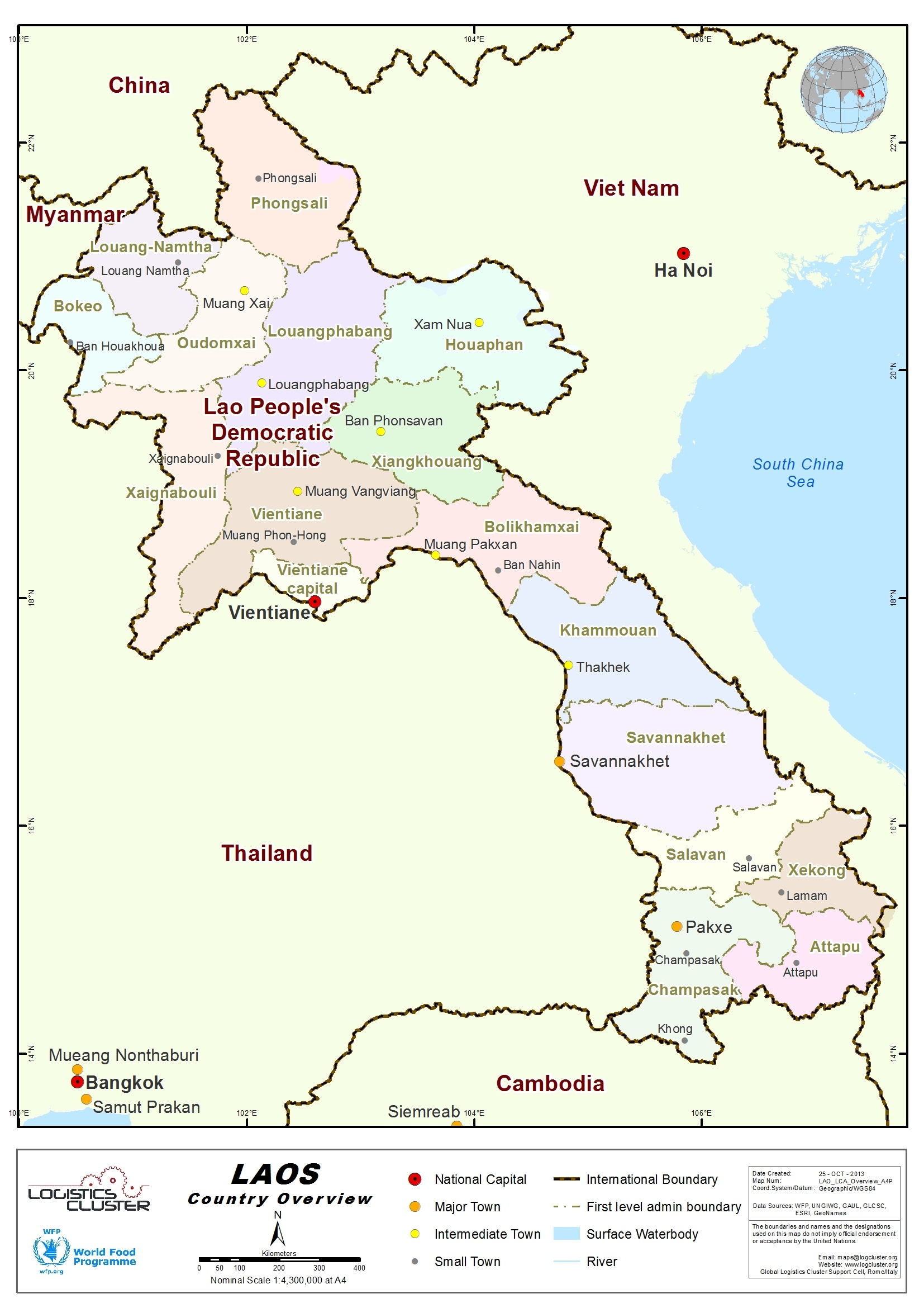 an overview of the country of laos The french arrived towards the end of the 19th century, gave the country its  present name, and began rolling back the boundaries of laos through a series of .