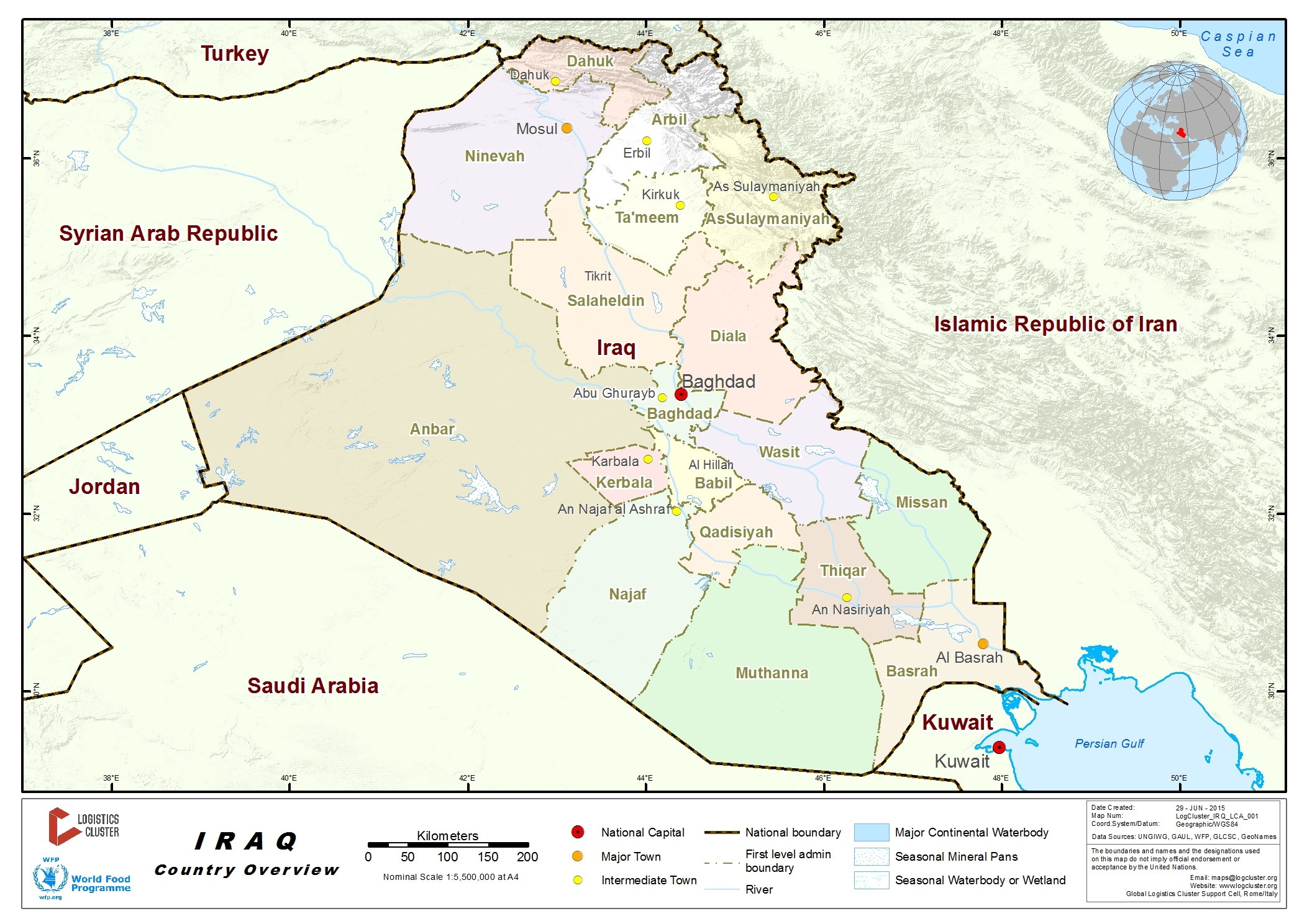 1 iraq country profile logistics capacity assessment digital iraq country map gumiabroncs Images