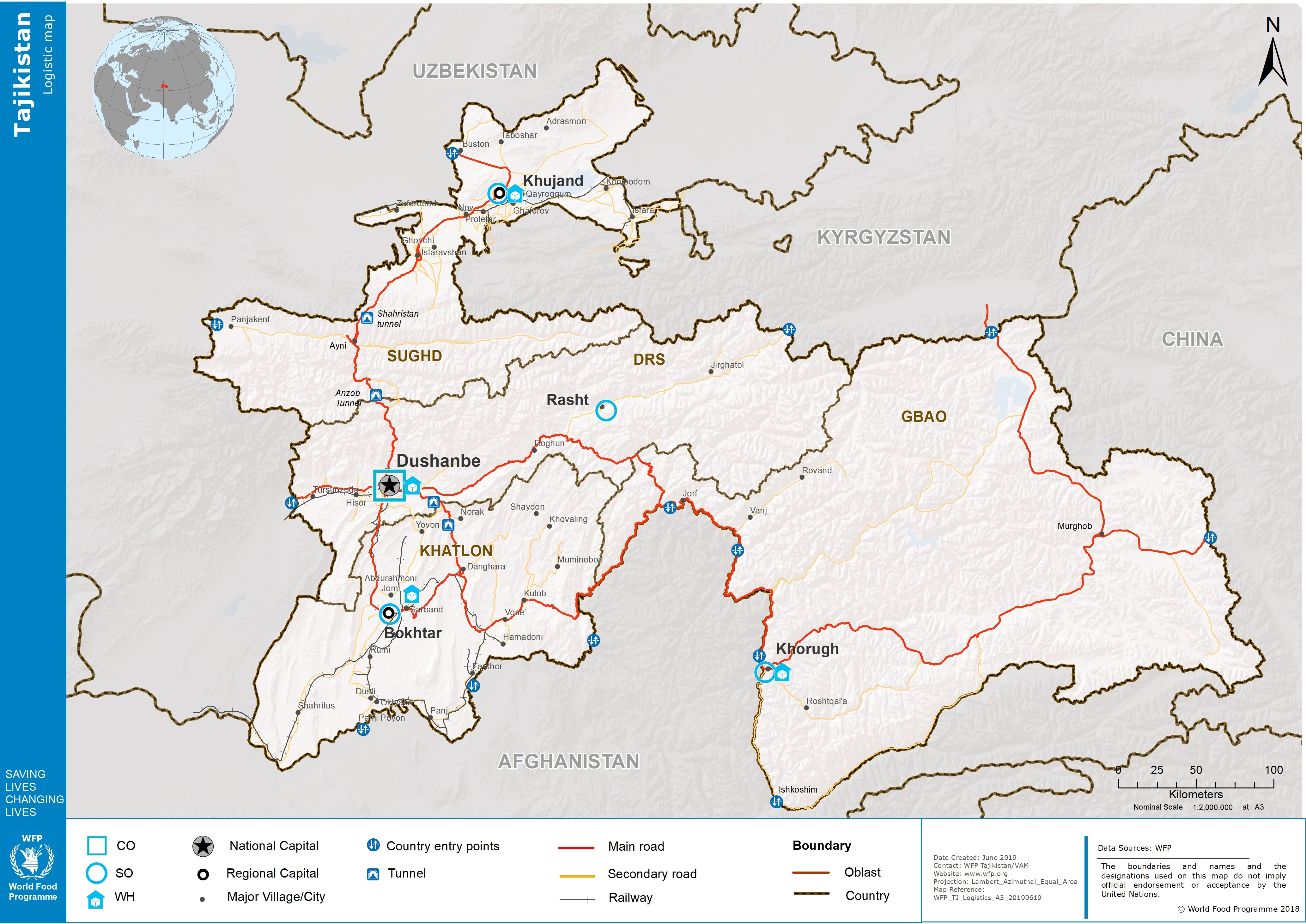2 3 Tajikistan Road Network - Logistics Capacity Assessment