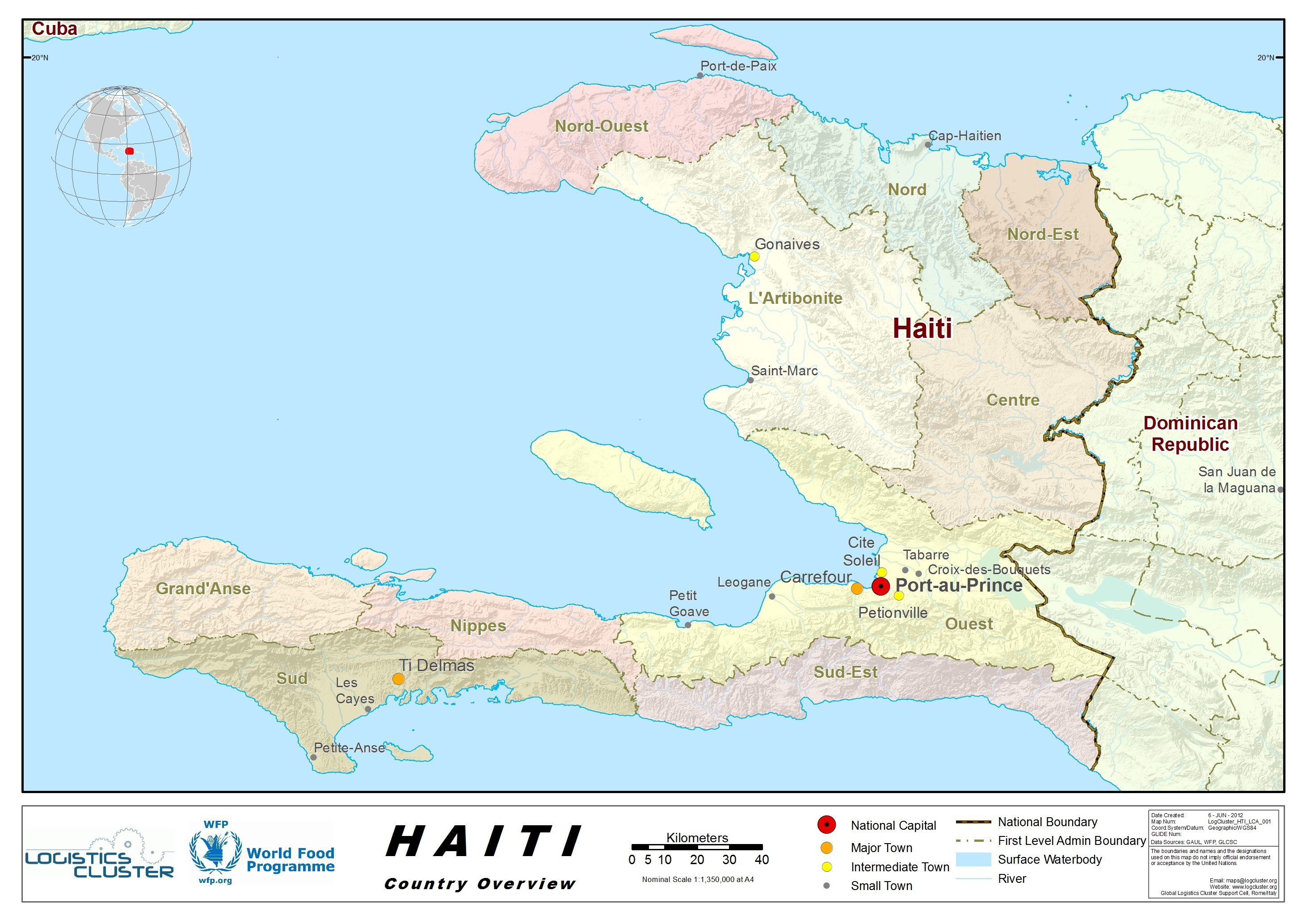 1 haiti country profile logistics capacity assessment digital haiti country map gumiabroncs Images
